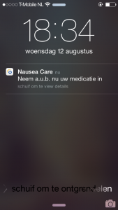 NCA melding medicatie innemen